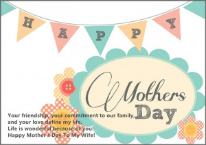 Meaningful Happy Mother's Day 2015 Greetings Messages For Wife