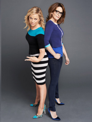 Tina Fey and Amy Poehler photographed by Gavin Bond