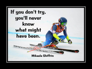 Skiing Poster Mikaela Shiffrin Photo Quote Wall Art 5x7
