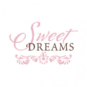 Shabby Chic Baby Quote Decal - Sweet Dreams Vinyl Wall Lettering Decor ...