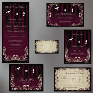 Gothic Wedding, Halloween Wedding Invitation Suite, Goth Party ...
