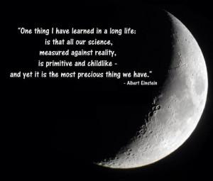 Einstein on science.