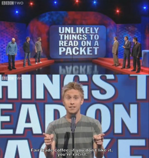 Okay, make that a Russell Howard appreciation life .