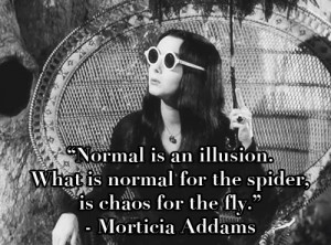 ... What is normal for the spider, is chaos for the fly.
