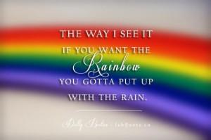 Dolly parton rainbow quote