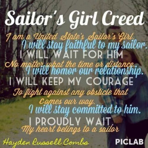 He has his Sailor's Creed. I have my Creed. ♥