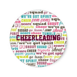 Cheerleading Sayings Personalized Sticker