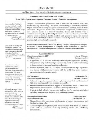 Administrative Support Specialist Resume Sample