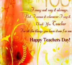 Teachers Day 2012 in India Date, Messages, Quote, Essay