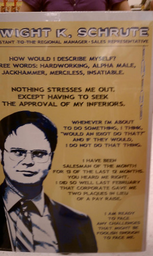 Dwight Schrute Quotes From dwight k. schrute.