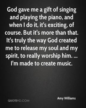 Singing For God Quotes