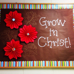 Christian Spring Bulletin Board