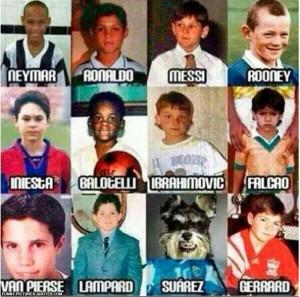 Football/Soccer players as kids