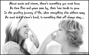 Beautiful quote and poem about aunts and nieces