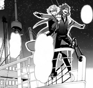 Grell and Ronald on Campania 's deck.