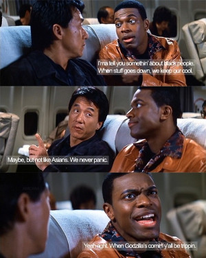 chris tucker, funny, jackie chan, movie, quote, rush hour, typography