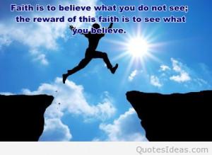 Cute photo faith quote