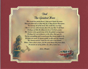 Personalized Fireman Firefighter Poem Gift For Birthday, or Christmas ...