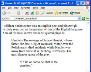 Yes Blockquote Elements Can...