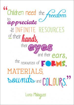 Inspirational Quotation Poster: Loris Malaguzzi | Free EYFS & KS1 ...
