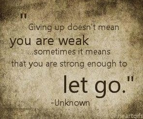 Sometimes you HAVE to let go in order to start living! #strength # ...