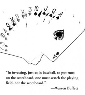 Great Investment Quote from Warren Buffett ~ Baseball Concept