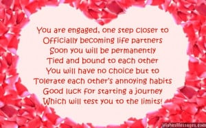Funny Engagement Card Poems: Congratulations for Engagement