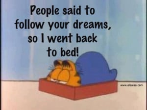 People Said to Follow Your Dreams,So I Went back to Bed! ~ Funny Quote
