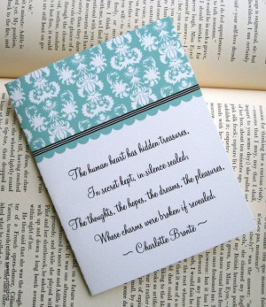make quote cards/bookmarks (Bronte Sisters Literature Quote Note Cards ...