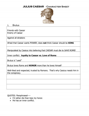 the good and bad character flaw of brutus in the play julius caesar by william shakespeare Shakespeare term papers (paper 391) on caesar, cassius & brutus as tragic heros: this year in english, we have studied many different characters we have studied the.