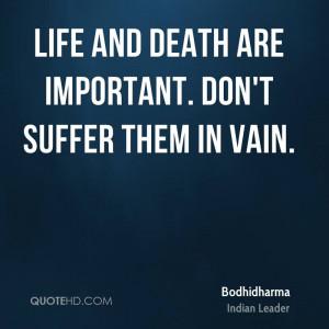 Bodhidharma Death Quotes