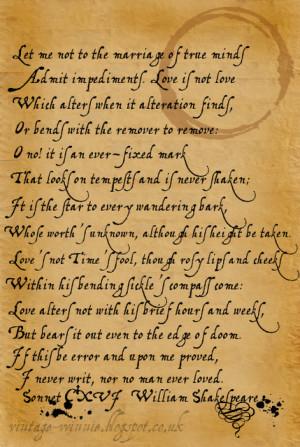 Sonnet CXVI - William Shakespeare