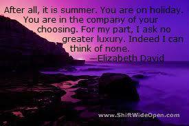 Elizabeth David choosing