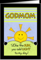 Happy Birthday to Godmom/Godmother-Add Light to My Day card - Product ...