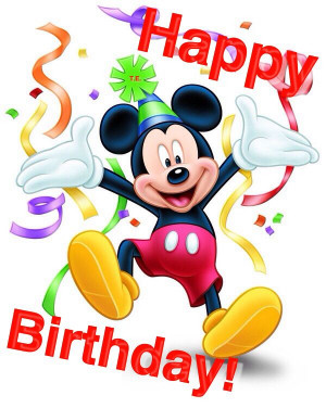 mickey mouse saying happy birthday