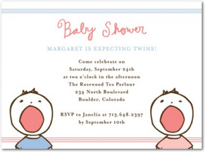 Cute Sayings For Baby Shower Invitations For Twins