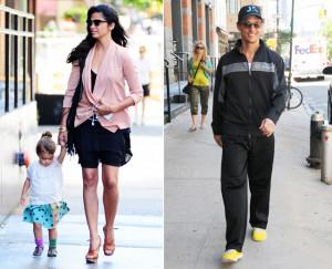 Camila Alves e Matthew McConaughey levam filhos para passeio em NY