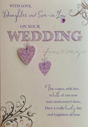 Daughter & Son-in-Law Anniversary Card