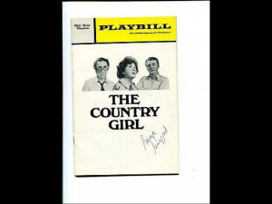 George Grizzard Country Girl Signed Autograph Playbill
