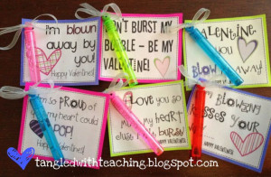 Tangled with Teaching: Bubbly Valentines {Freebie!}