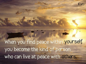 Quotes and Pics 33, peace of mind