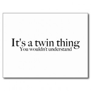 Twin Sayings Postcards