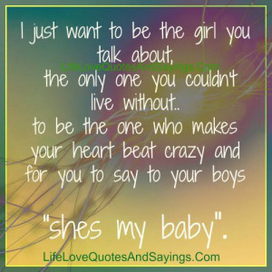Just Want To Be The Girl..