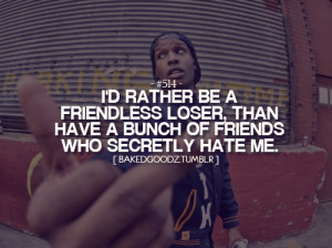 No time for fake friends