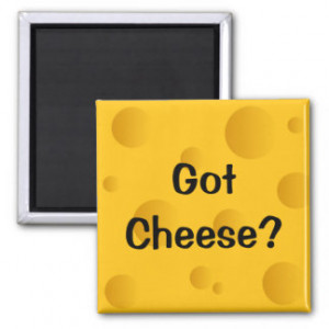 Got cheese fridge magnet with funny quote