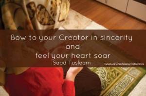 ... to your Creator in sincerity… - Islamic Quotes | IslamicArtDB.com