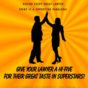 Hi-Five your lawyer Paralegal Humor