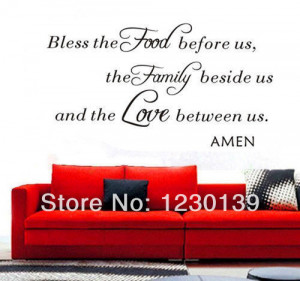 about Bless the Food Family Love Amen Wall Vinyl Sticker Decal Quote ...