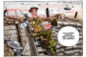 Trench Warfare Ww1 Cartoon Trench Warfare Ww1 Political