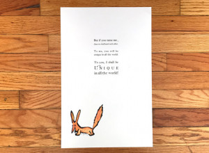 The Little Prince Fox Quote Letterpress Print / Wall Art